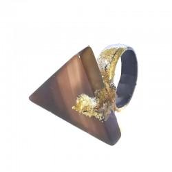 Anel Agata Triangular