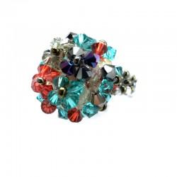 Anel Mme Dupont Swarovski Multicolorido