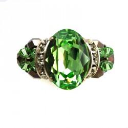 Anel Swarovski Cabochao Verde Peridoto Mistral