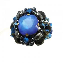 Anel Opal Sky Blue Mirian