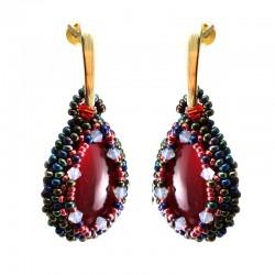 Brincos Gotas de Murano Vermelho