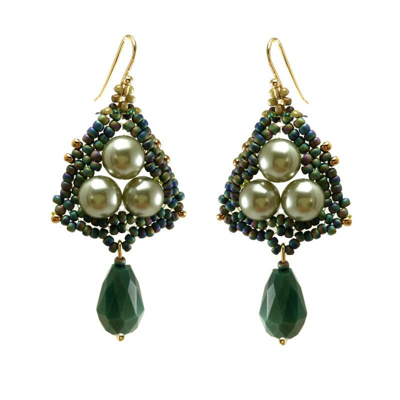 Brincos Glamour Verde