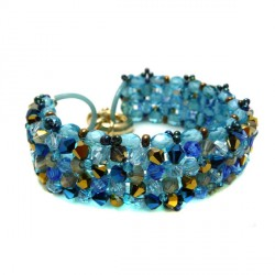 Bracelete Swarovski Azul