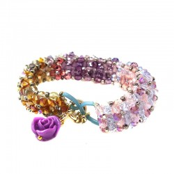 Bracelete Swarovski Lilas