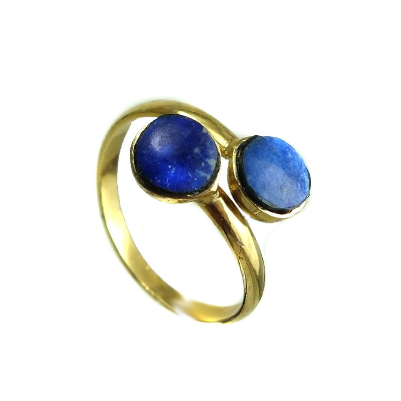 Anel Lapis Lazuli Minis Cabochoes