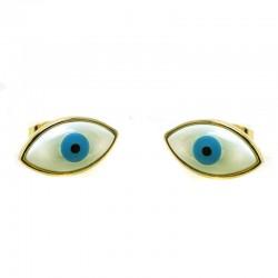Brincos Olho Grego Madre Perola