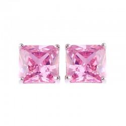Brincos Princesa Cubic Zirconia Rosa