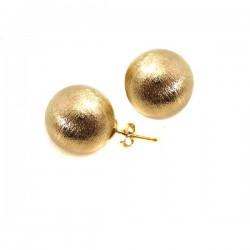 Brincos Esferas Foscas Ouro